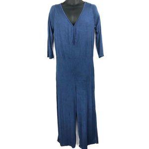 GO Couture Blue V Neck Jumpsuit XL